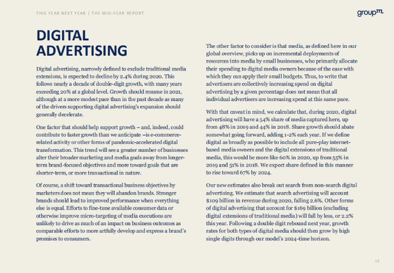 2020全球广告业年中报告